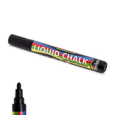 Liquid Chalk Marker Pen Black - 5mm Bullet Nib : Neochalk Liquid Chalk Black : Office Products