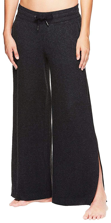 Flowy Boho Style Bottoms w//Drawstring Waist Gaiam Womens Wide Leg Yoga Pants