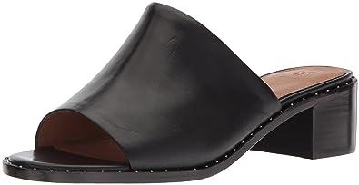 FRYE Women's Cindy Mule Heeled Sandal, Black, ...