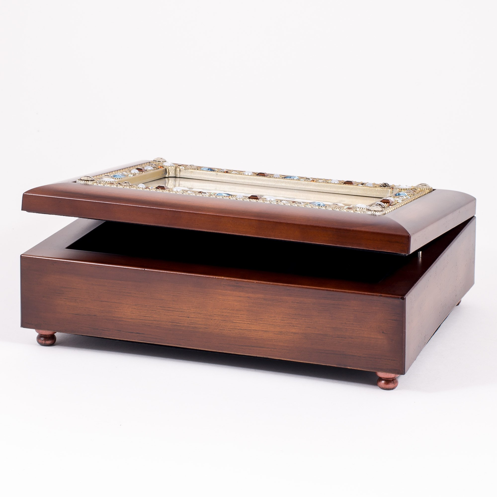 Friendship Life's Gifts Jewel Musical Music Jewelry Box with Dark Wood Finish Plays That's What Friends Are For by Cottage Garden (Image #4)