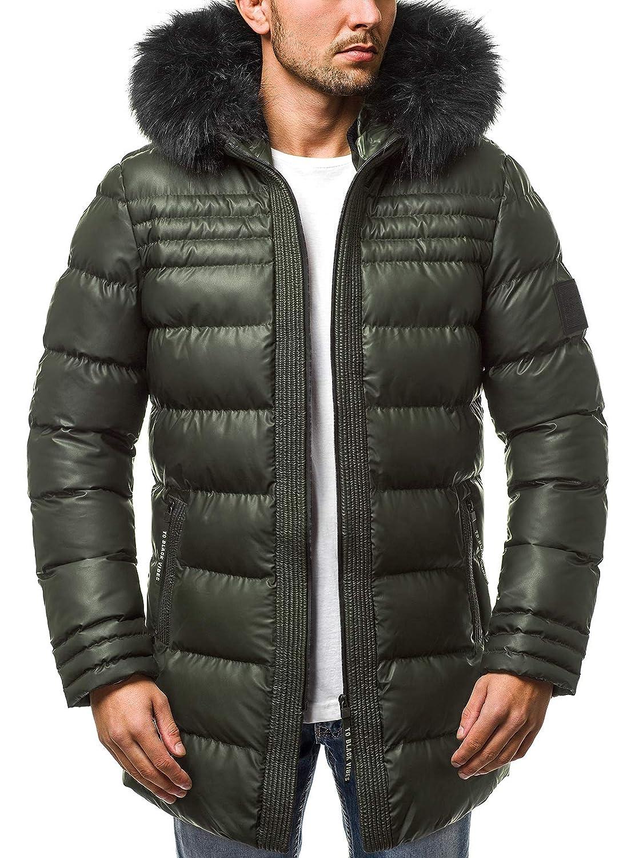 OZONEE Herren Winterjacke Parka Jacke Kapuzenjacke Wärmejacke Wintermantel Coat Wärmemantel Warm Modern Täglichen B2018228