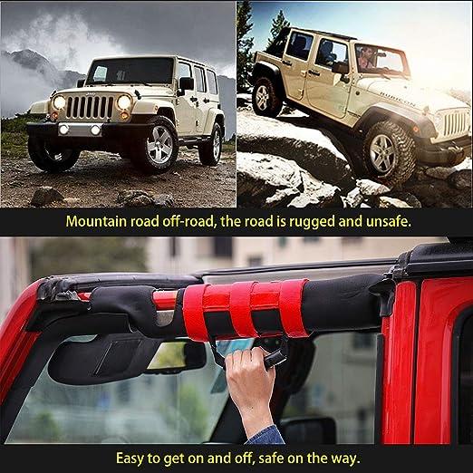 L U 4x Überrollbügel Haltegriffe Griff Für Jeep Wrangler Yj Tj Jk Jl Sport Sahara Freedom Rubicon X Unlimited 1987 2017 Red Küche Haushalt
