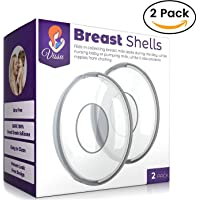 Milk Saver Breast Shells Nursing Cups - Protect Sore Nipples for Breastfeeding - Breastmilk Collector Catcher for Nursing Moms - Soft and Flexible Silicone Material Easy to Clean - Reusable - 2 Pack