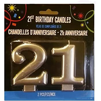 Silver 21st Birthday Candle 1 Unit