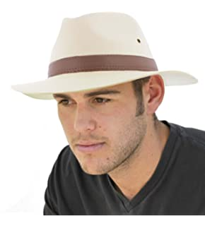 22335292534 Men s Summer Beach Wide Brim Straw Cowboy Hat with Leather Band UPF ...