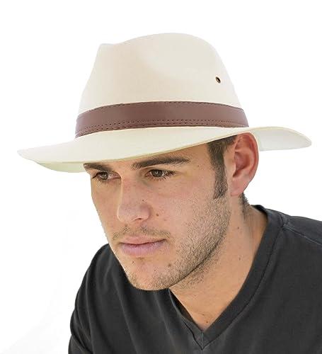 The Hat Company Mens Cotton Fedora A232