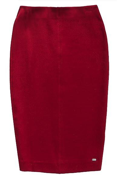 Superdry Natasha Ponte Pencil Skirt, Falda para Mujer, Púrpura ...