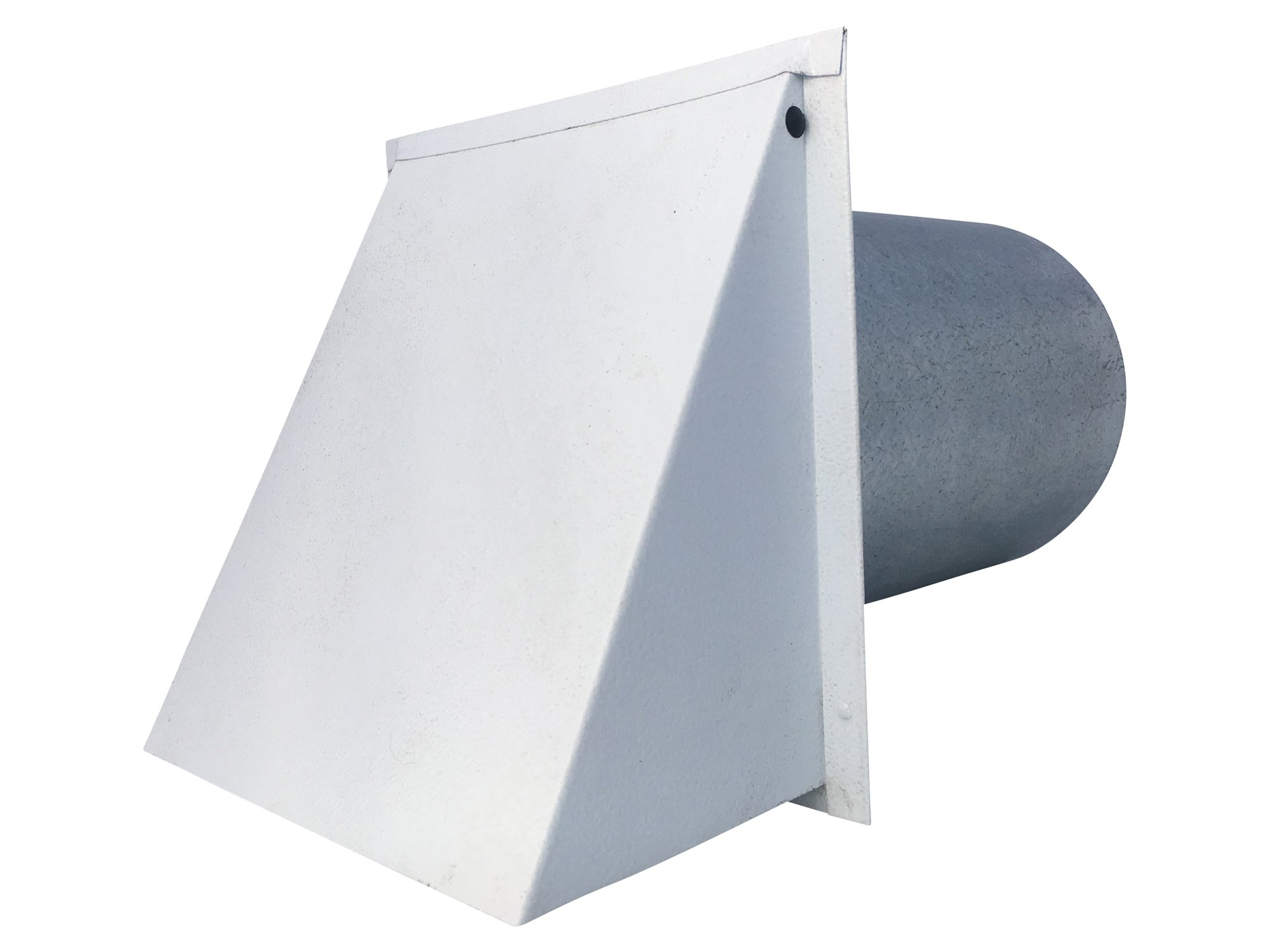 6 Inch Wall Vent Painted White Damper & Screen (6 Inch diameter) - Vent Works
