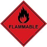 Hazard Sign - Flammable Sticker (Diamond) 100x100mm