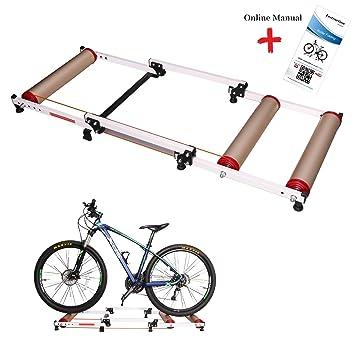 West bicicleta plegable bicicletas en el interior rodillos para ejercicio, bicicleta resistencia instructores parabólico rodillo