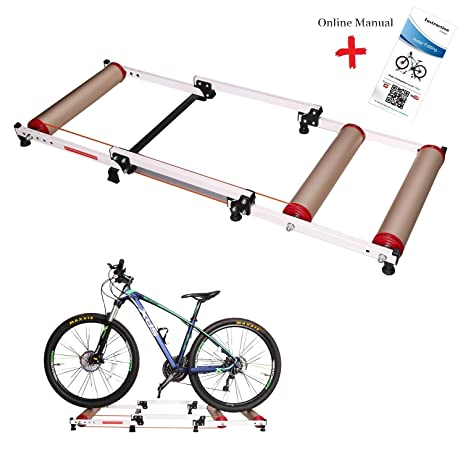 West Biking Foldable Indoor Bike Rollers For Exercise