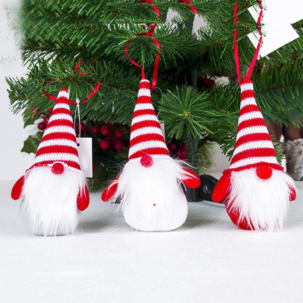 ThePass Santa Cloth Doll Birthday Present Home Christmas Holiday Decoration