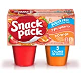 Snack Pack Sugar-Free Strawberry and Orange Juicy Gels, Keto Friendly, 4 Count