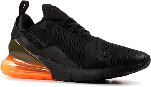 Amazon Com Nike Men S Air Max 270 Black Orange Ah8050 008 Size