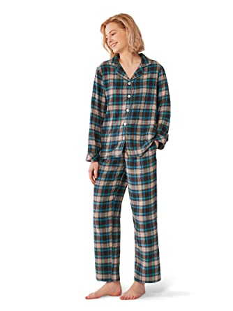 87f8f3ae65 SIORO Comfy Pajamas for Women 2-Piece Warm and Cozy Flannel Pj Set of  Loungewear