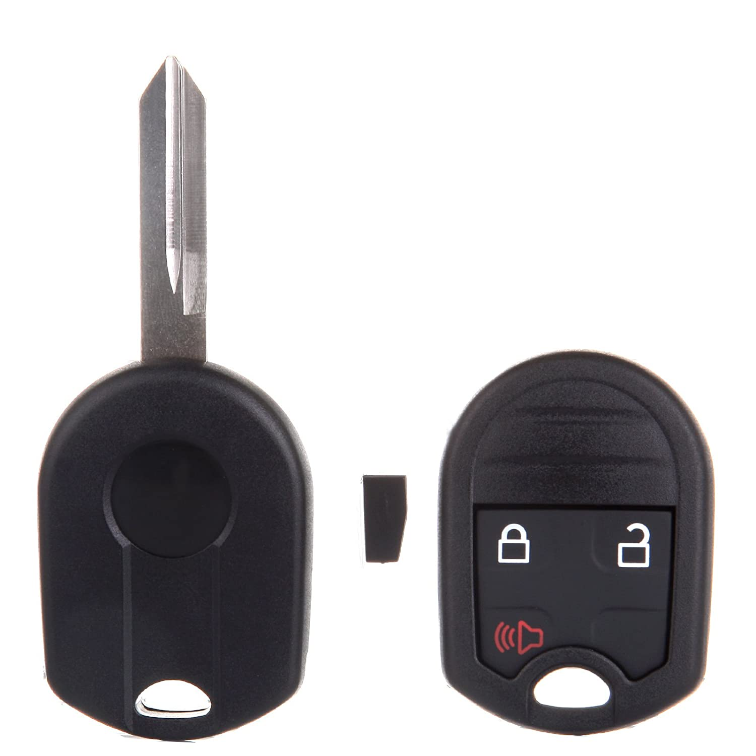 cciyu 2PCS Uncut 3 Buttons Keyless Entry Remote Fob Replacement fit for Ford Ranger Escape Explorer//Lincoln MKZ MKX Mark LT//Mazda Tribute//Mercury Mariner Mountaineer CWTWB1U793G