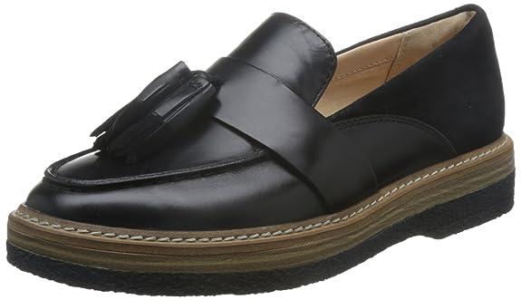 Clarks Zante Spring - Black Combi Leather: Amazon.es: Zapatos y complementos