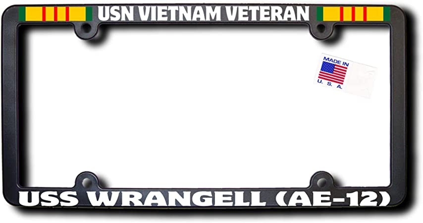 SignMission Proudly Served On USS WRANGELL AE 12 Plastic License Plate Frame
