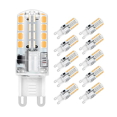 Jpodream® Bombillas LED G9, 5W 32 x 2835 SMD Lámparas LED, 400LM,