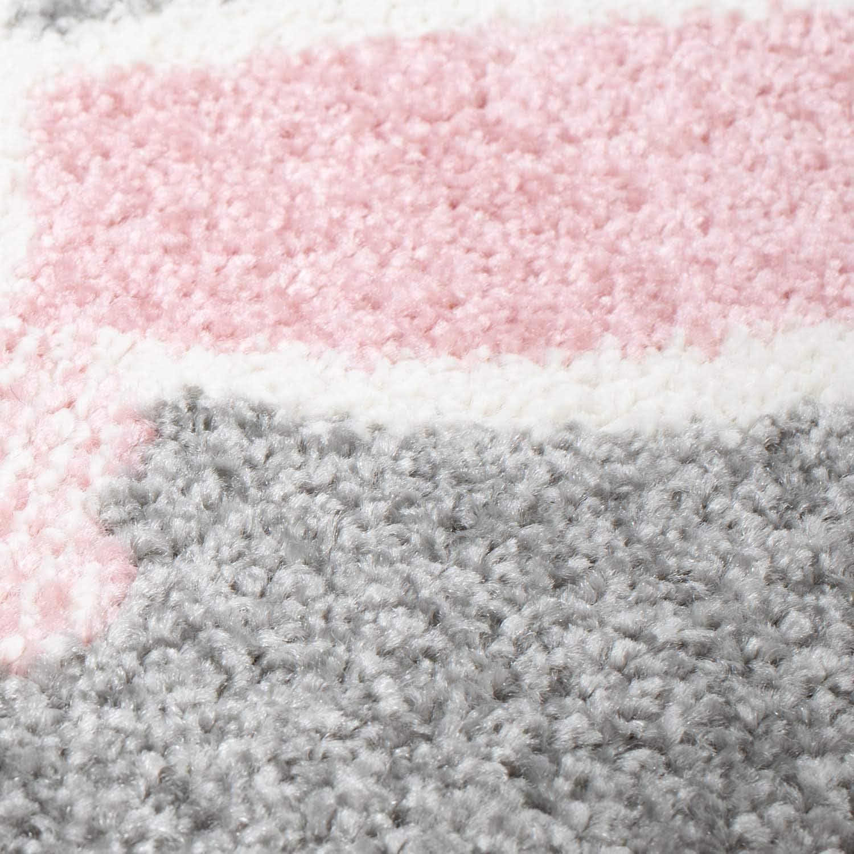 Regenschirm MyShop24h Kinderteppich Teppich Kinderzimmerteppich Spielteppich Flachflor mit Hase Gr/ö/ße in cm:80 x 150 cm Rosa Herzen in Grau