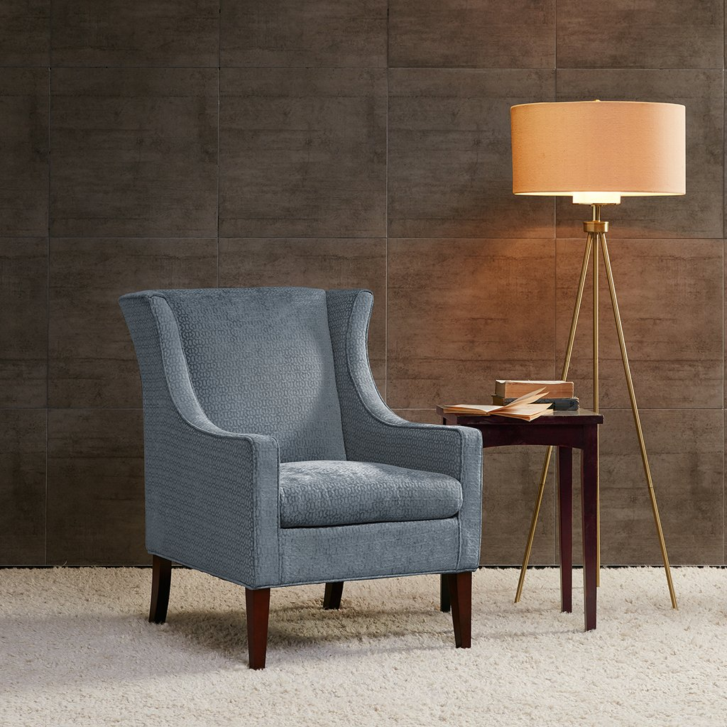 Amazon.com: Addy Wing Chair Blue See below: Home & Kitchen