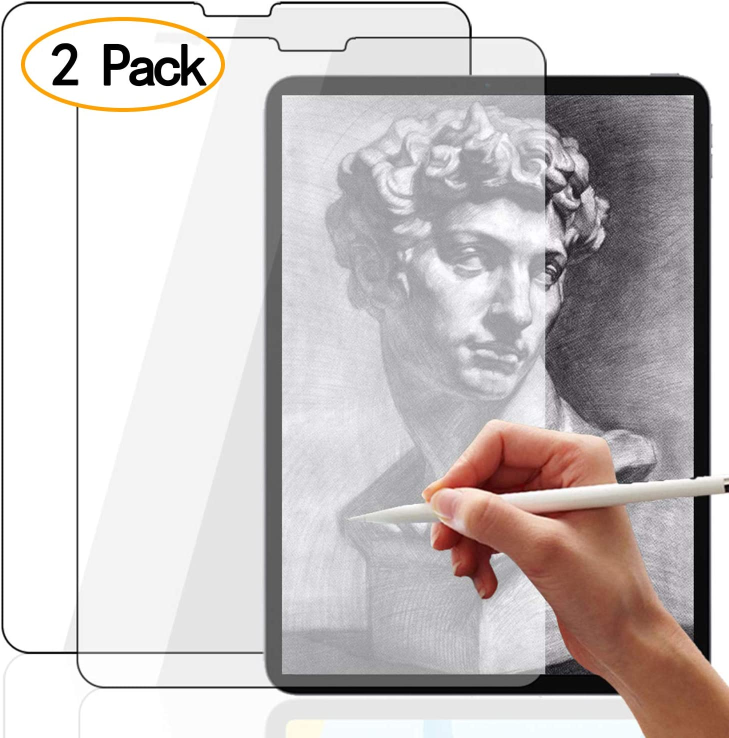 iPad Mini5 Paperlike Screen Protector,Compatible ipad Mini 5 2019/&Mini 4 Screen Protector Anti-Scratch//Glare Bubble Free Easy Installation ZOEGAA 2 Pack Not Glass