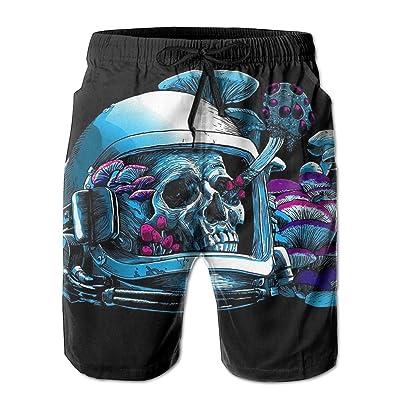 Men's Shorts Swim Beach Trunk Summer Space Astronaut Skull Helmet Casual Fashion Shorts With Pockets
