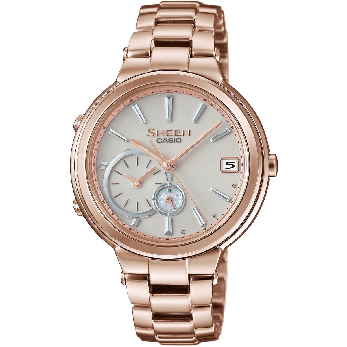 Amazon.com: Casio Sheen Time Ring Bluetooth Rose Gold ...