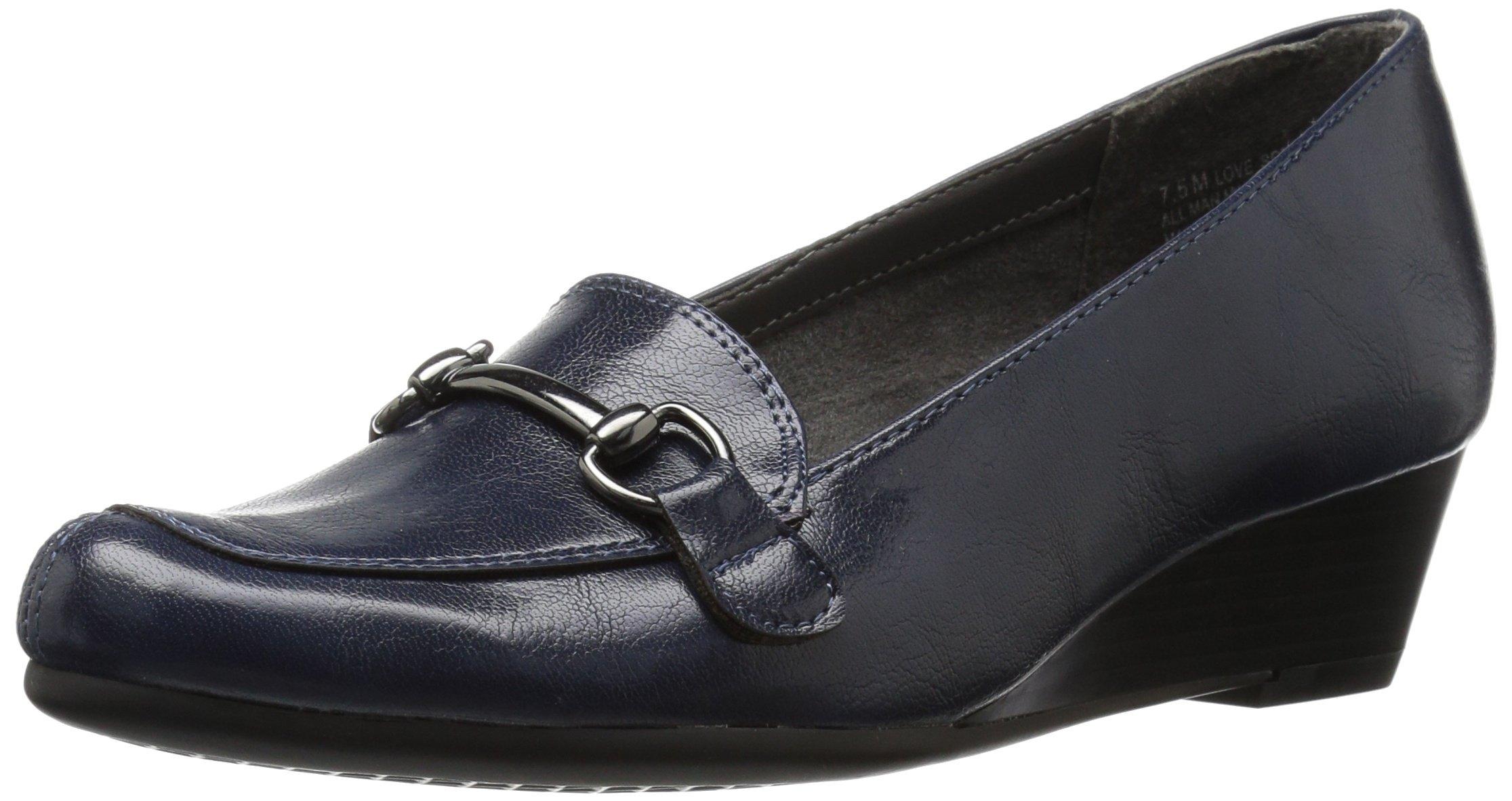 Aerosoles A2 Women's Love Spell Slip-on Loafer, Navy, 9.5 M US