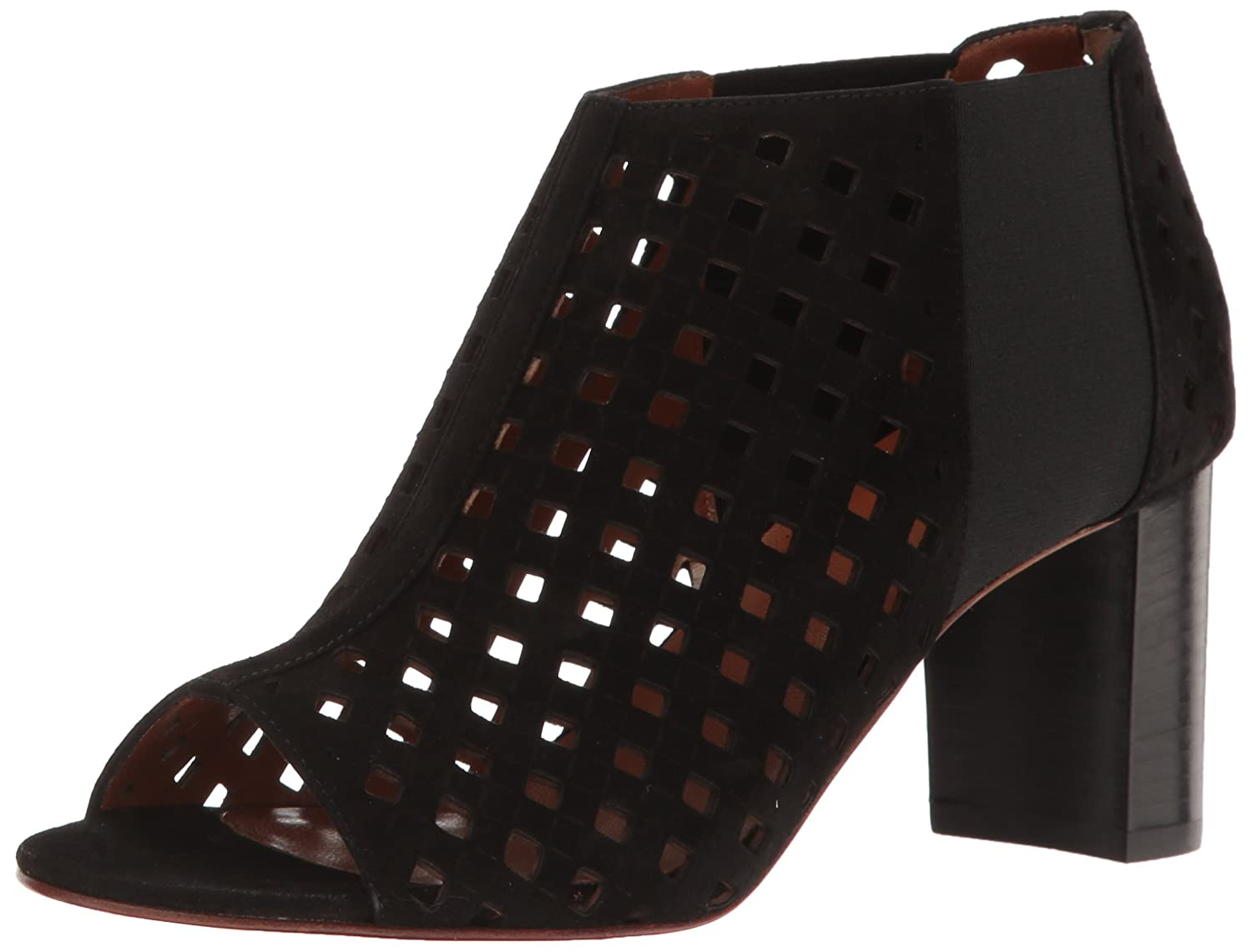 Aquatalia by Marvin K. Women's Shari Perforated Suede Ankle Bootie B01M3NVWZ1 9 B(M) US|Black