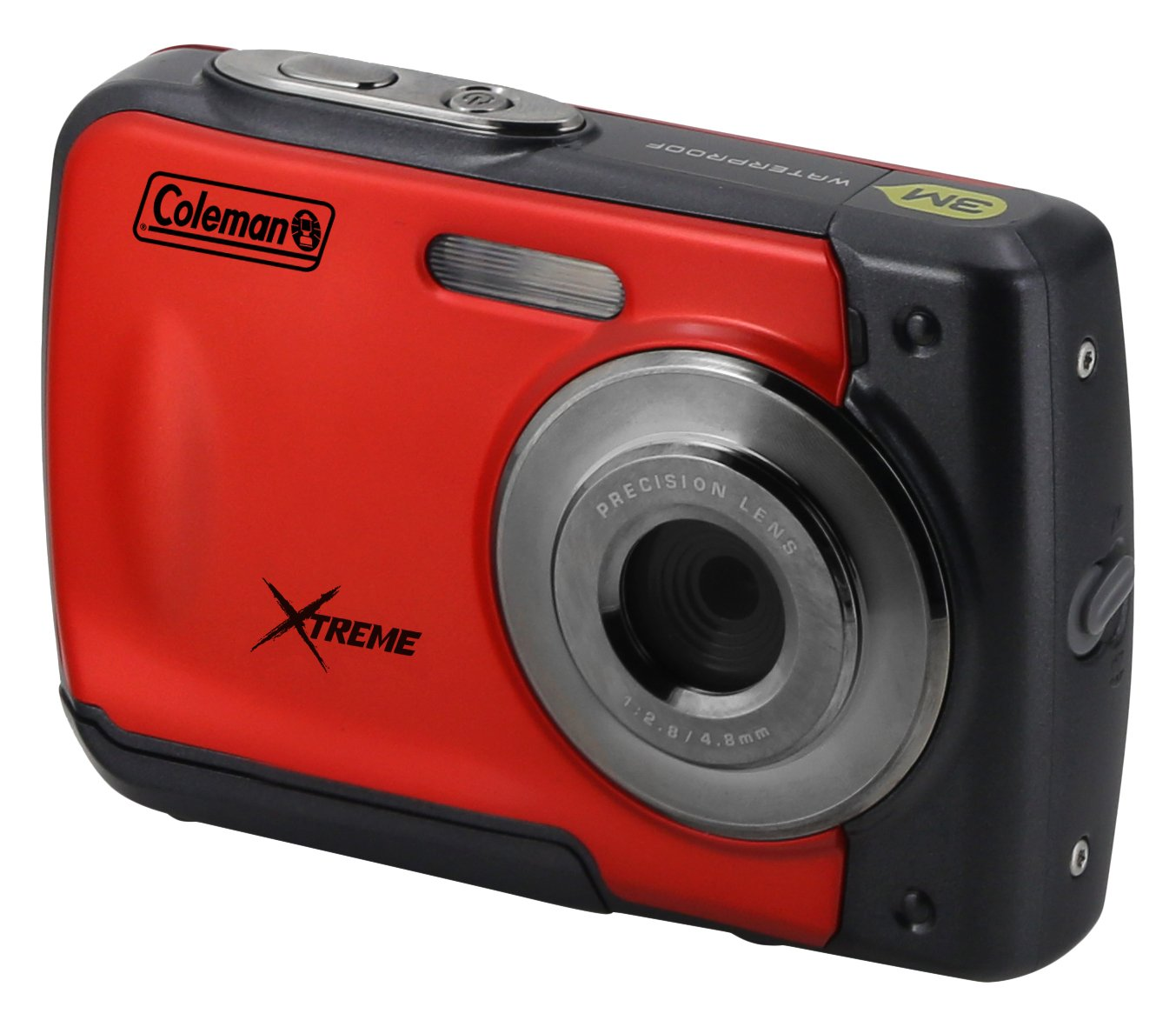 """Coleman Xtreme 18.0 MP HD Underwater Digital & Video Camera (Waterproof to 10 ft.), 2.5"""", Red (C20WP-R)"""
