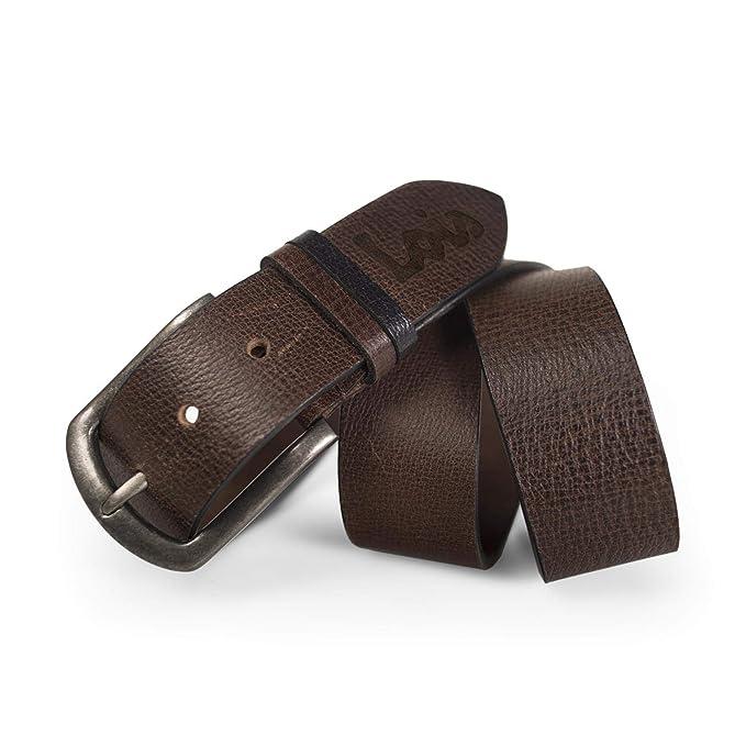 Lois - Cinturón para Hombre de Cuero Piel Genuina. Hebilla ...