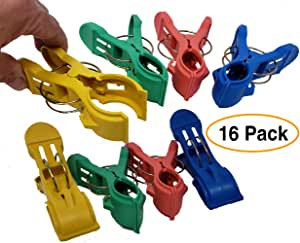 "Amazon.com : Jumbo Plastic Clips 4.75"" Long (16 Pack"