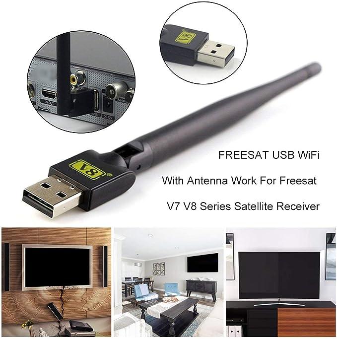 Jason James Gargan FREESAT USB WiFi con Antena Funciona para ...