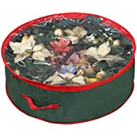 """Primode Supreme Polyester Holiday Wreath Storage Bag with Clear Window for 36"""" Wreaths"""