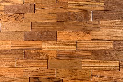 Wodewa Paneles De Madera Para Pared Teca I 1m2 Revestimiento De - Pared-de-madera