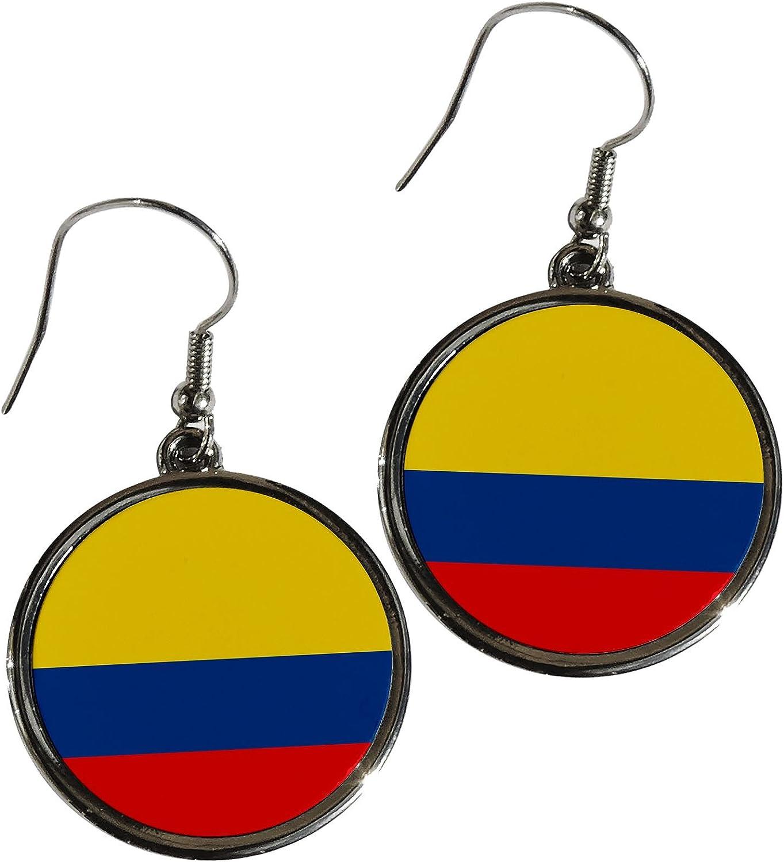 Pendientes de aleación de Premium – bandera de Colombia (Colombia), diseño redondo: Amazon.es: Hogar