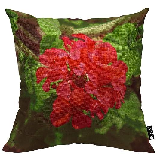 Mugod - Funda de almohada de geranio, diseño de flores de ...