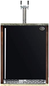 Beer Meister Dual Tower with Black Door Built-in kegerator - Premium Series