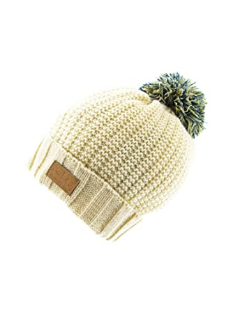 3e8d818f3a7 Image Unavailable. Image not available for. Color  Cable Pom Pom Cuffed  Beanie Unisex ...