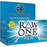 Garden of Life Multivitamin for Men - Vitamin Code Raw One Whole Food Vitamin Supplement with Probiotics, Vegetarian, 75 Capsules