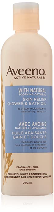 Aveeno Skin Relief Shower Bath Oil 10 Oz