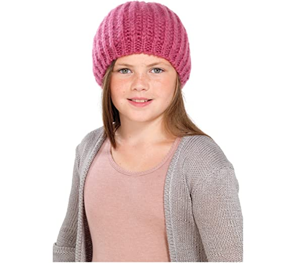 1fb7c8b92b1 Image Unavailable. Image not available for. Color  Octave Girls Knitted  Beanie Beret Hat With Lurex For Added Sparkle! - In Purple