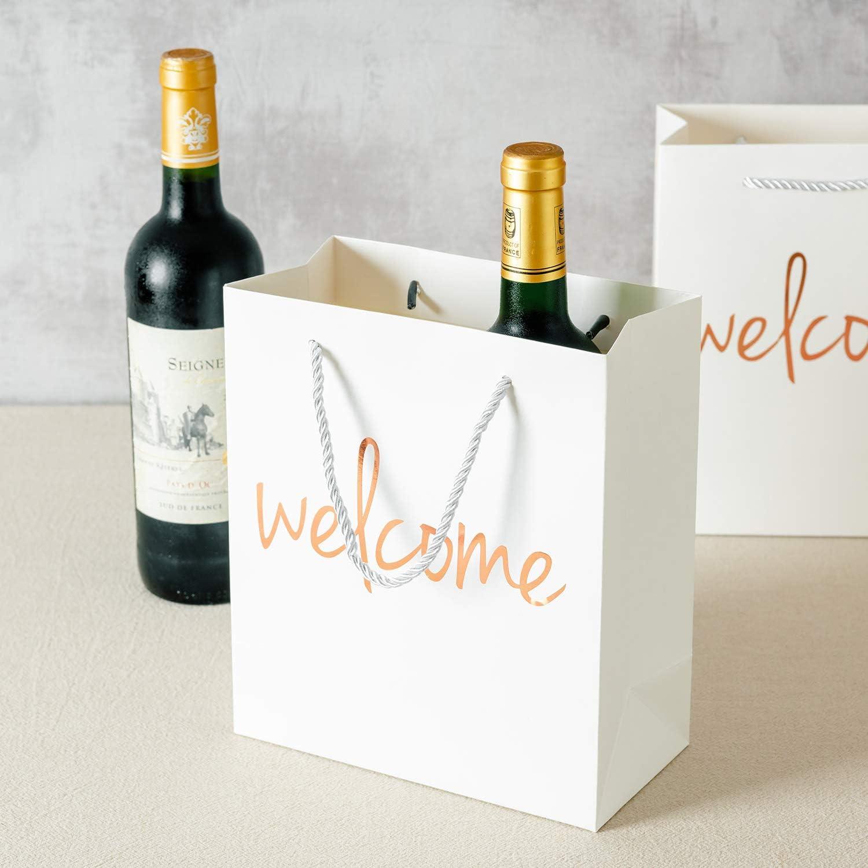 Amazon.com: Bolsas de bienvenida Crisky oro rosa bolsas de ...