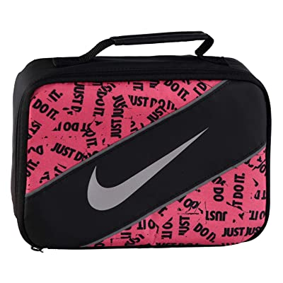 Nike Swoosh Insulated Lunch Box (Racer Pink/Black): Kitchen & Dining