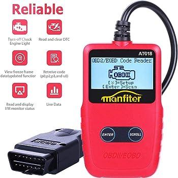 Manfiter OBD2 Scanner Auto Car OBDii 2 Code Reader