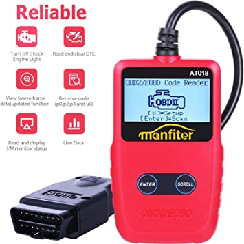 FYSMY OBD2 Scanner,Enhanced OBD II Automotive Engine Fault Code Reader Diagnostic Scan Tool Vehicle Trouble Codes Analyzer CAN Scan Tool for OBDII Protocol Cars Since 1996 Red