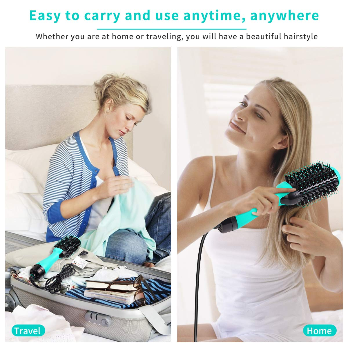 Hot Air Brush, Hair Dryer Brush, 3 Modes Blow Dryer Brush & Volumizer, Negative Ion Hair Brush for Drying, Styling, Straightening and Curling based on 110V : Beauty