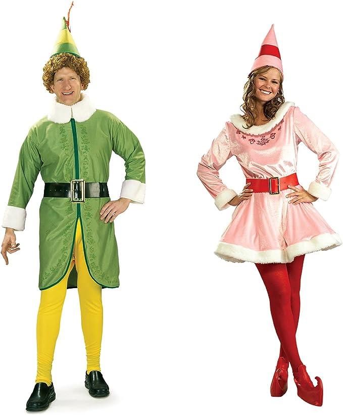 Buddy The Elf (Plus) and Jovi Couples Costume Bundle Set