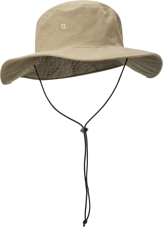 Protezione Leggera del Sole Mountain Warehouse Australian Brim Cappello Australiano del Bordo Cappello di Estate di UPF30+ 100/% Protezione del Cowboy del Cotone